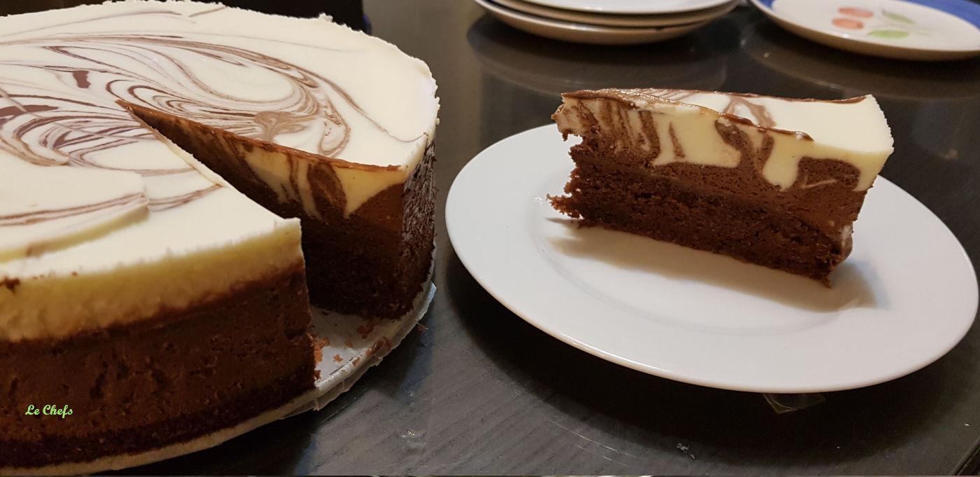 מתכון פשוט לעוגת מוס שוקולד מצויירת